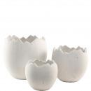Ceramic slip egg, Set: 3, height 25/20 / 15cm, Dia